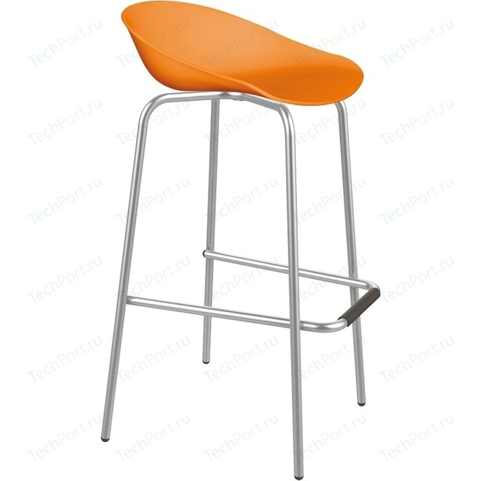 Барный стул Sheffilton SHT-ST19/S29 оранжевый/хром лак