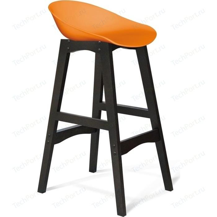 Барный стул Sheffilton SHT-ST19/S65 оранжевый/венге