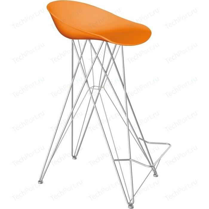 Барный стул Sheffilton SHT-ST19/S66 оранжевый/хром лак