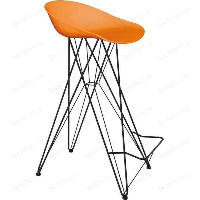 Барный стул Sheffilton SHT-ST19/S66 оранжевый/черный муар