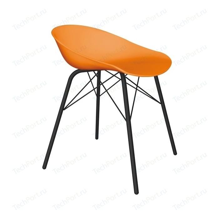 Стул Sheffilton SHT-ST19/S64 оранжевый/черный муар