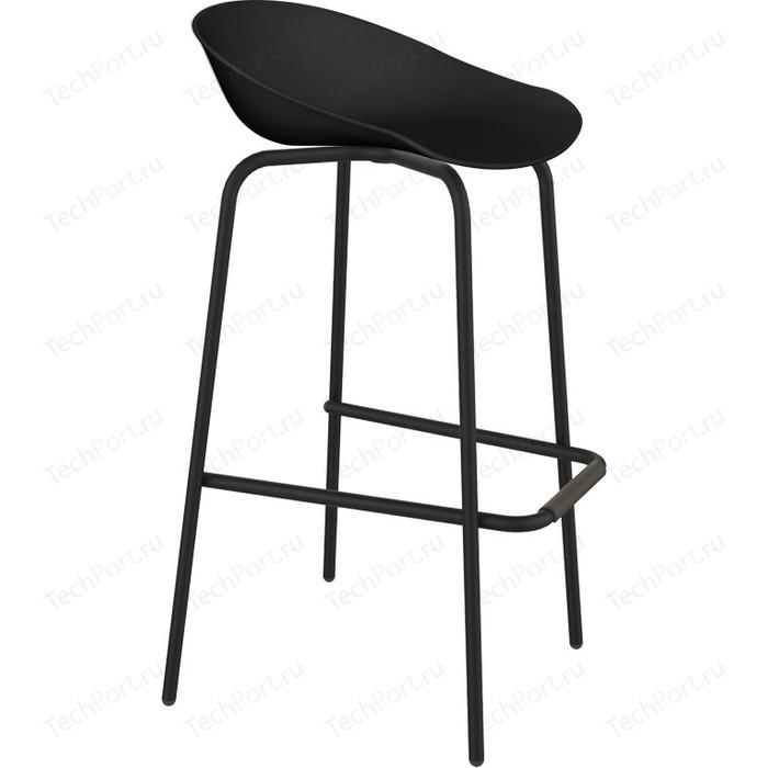 Барный стул Sheffilton SHT-ST19/S29 черный/черный муар