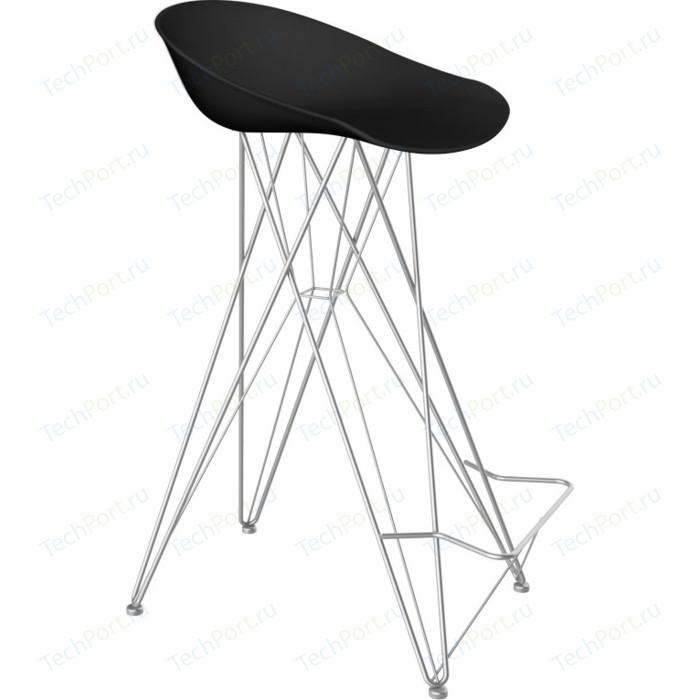 Барный стул Sheffilton SHT-ST19/S66 черный/хром лак