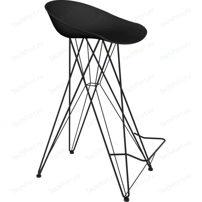 Барный стул Sheffilton SHT-ST19/S66 черный/черный муар