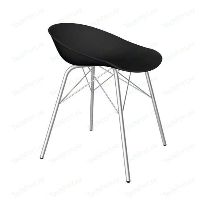Барный стул Sheffilton SHT-ST19/S64 черный/хром лак
