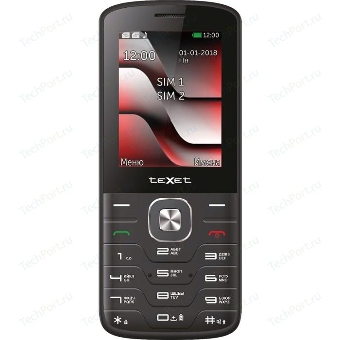 Мобильный телефон TeXet TM-D329 черный-красный телефон texet tm 401 шампань 2 4 32 мб