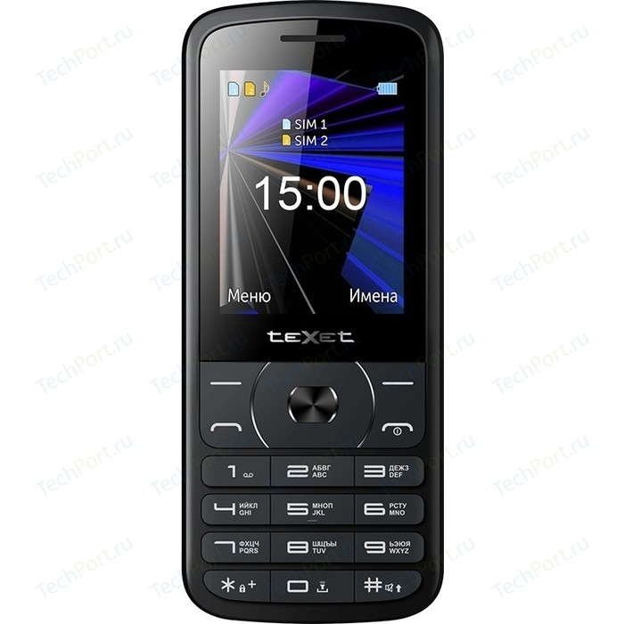 Мобильный телефон TeXet TM-D229 черный мобильный телефон texet tm 101 черный