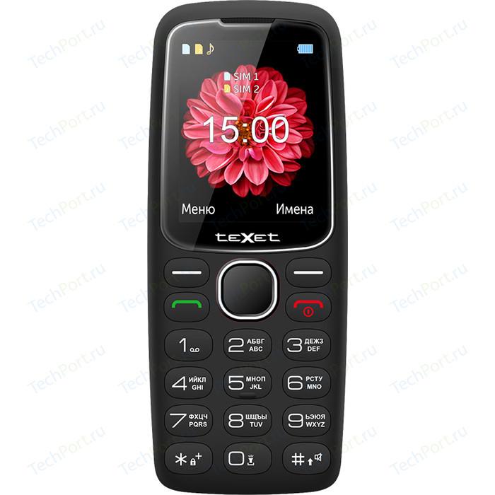 Мобильный телефон TeXet TM-B307 черный мобильный телефон texet tm 101 черный