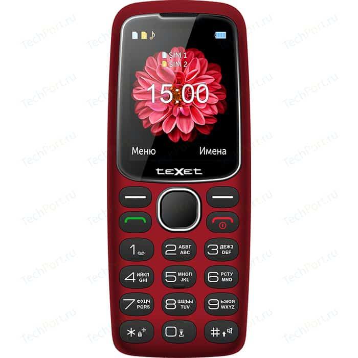 Мобильный телефон TeXet TM-B307 красный texet tm b226 черный красный мобильный телефон