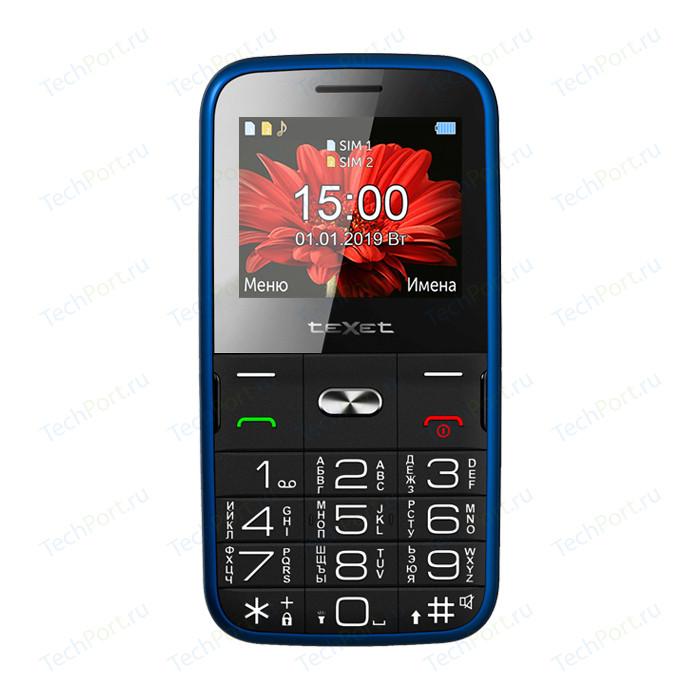 Мобильный телефон TeXet TM-B227 синий мобильный телефон texet tm 101 черный