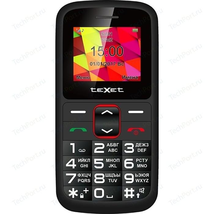 Мобильный телефон TeXet TM-B217 черный-красный texet tm b226 черный красный мобильный телефон