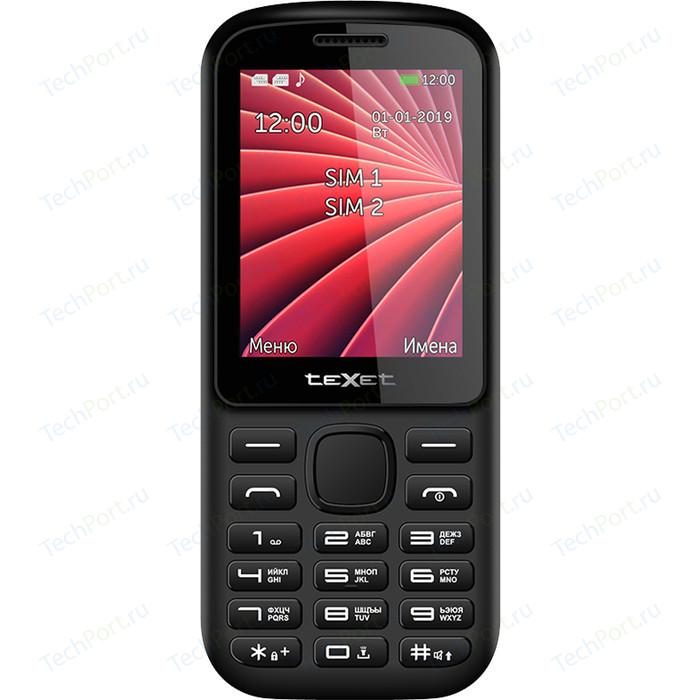 Мобильный телефон TeXet TM-218 черный-красный texet tm b226 черный красный мобильный телефон