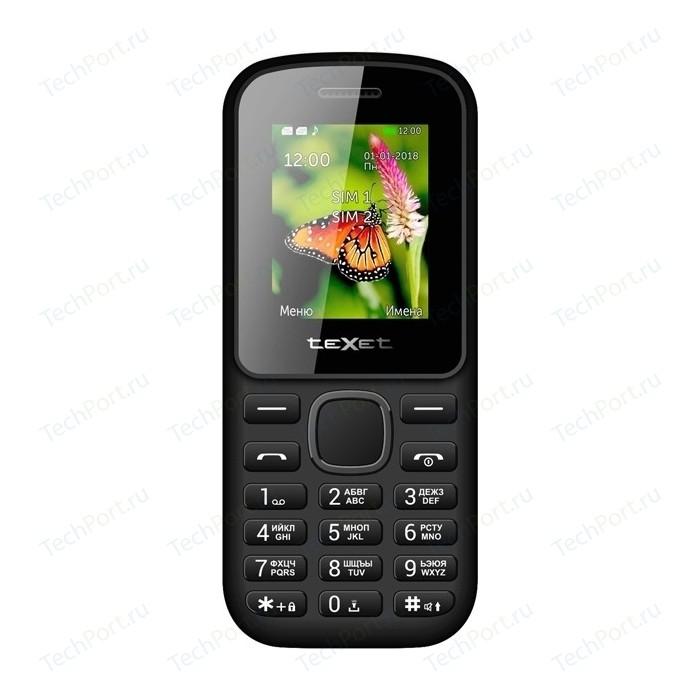 Мобильный телефон TeXet TM-130 черный-красный мобильный телефон texet tm 101 черный
