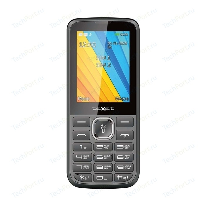 Мобильный телефон TeXet TM-213 черный мобильный телефон texet tm 101 черный