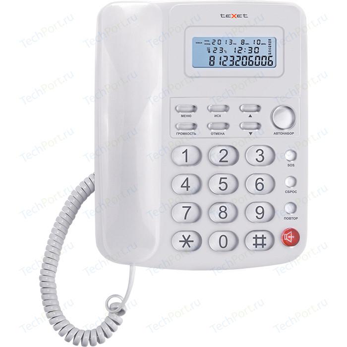 Фото - Проводной телефон TeXet TX-250 белый проводной телефон texet tx 201 белый
