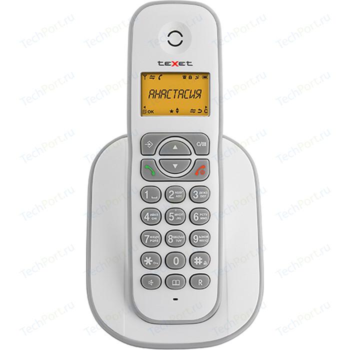 Фото - Радиотелефон TeXet TX-D4505A белый-серый проводной телефон texet tx 201 белый