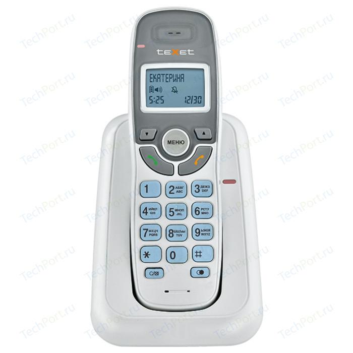 Фото - Радиотелефон TeXet TX-D6905A белый проводной телефон texet tx 201 белый