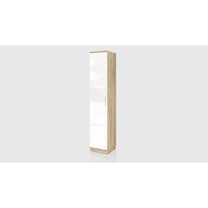 Шкаф СКАНД-МЕБЕЛЬ С-03 левый/правый Стокгольм белый глянец без ящиков стол прямой сканд мебель сс 02 левый правый стокгольм белый глянец