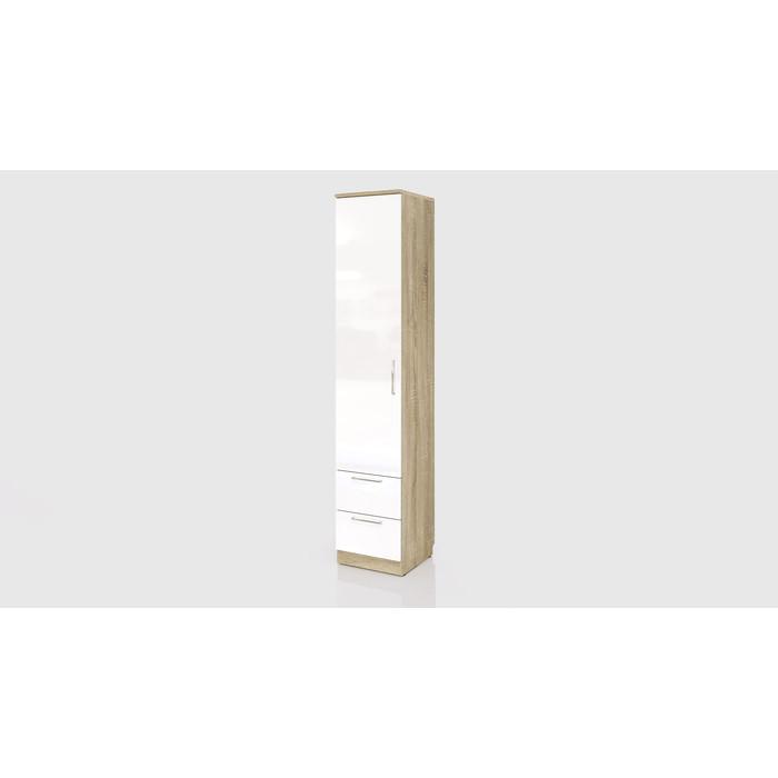 Шкаф СКАНД-МЕБЕЛЬ С-04 левый/правый Стокгольм белый глянец с ящиками стол прямой сканд мебель сс 02 левый правый стокгольм белый глянец