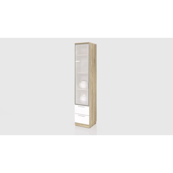 Шкаф СКАНД-МЕБЕЛЬ С-05 левый/правый Стокгольм белый глянец с ящиками стекло стол прямой сканд мебель сс 02 левый правый стокгольм белый глянец