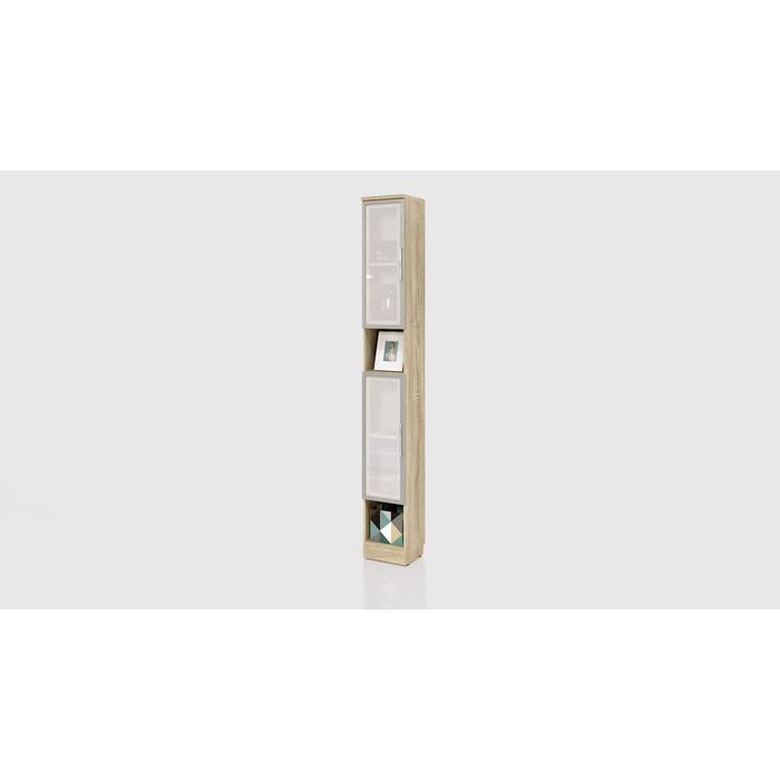 Шкаф узкий СКАНД-МЕБЕЛЬ С-07 левый/правый Стокгольм белый глянец стол прямой сканд мебель сс 02 левый правый стокгольм белый глянец