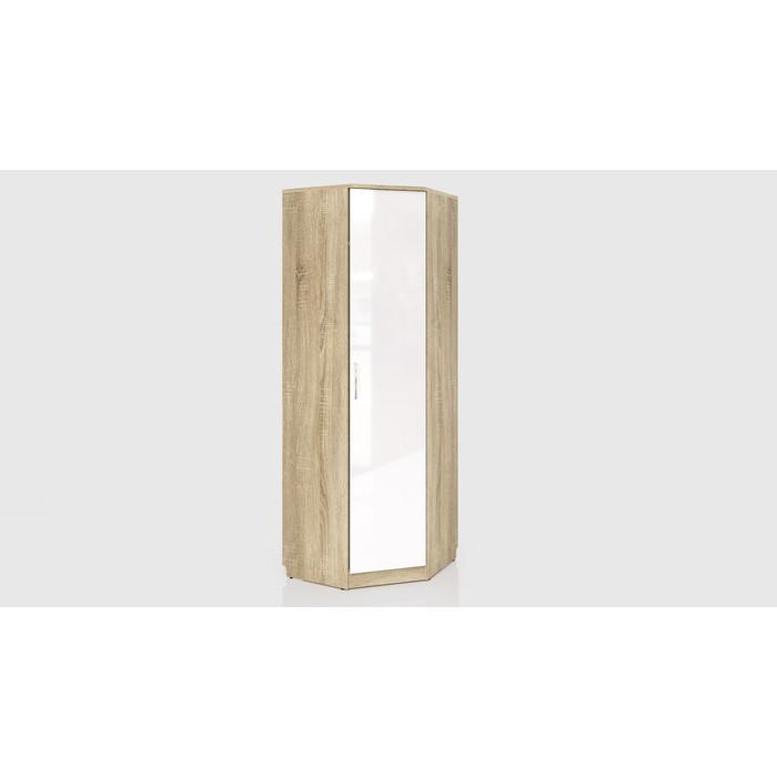 Шкаф угловой СКАНД-МЕБЕЛЬ С-13 Стокгольм левый/правый белый глянец стол прямой сканд мебель сс 02 левый правый стокгольм белый глянец