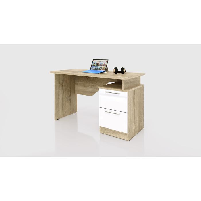 Стол прямой СКАНД-МЕБЕЛЬ СС-02 левый/правый Стокгольм белый глянец стол прямой сканд мебель сс 02 левый правый стокгольм белый глянец
