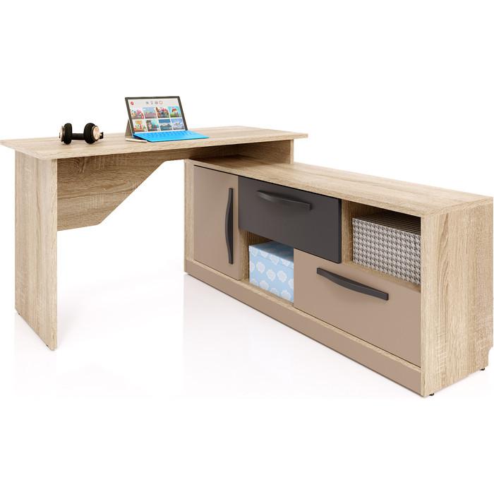 Стол угловой СКАНД-МЕБЕЛЬ Стокгольм СС-03 правый капучино стол прямой сканд мебель сс 02 левый правый стокгольм белый глянец