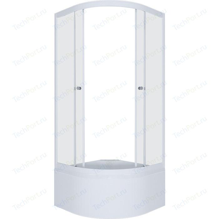 Душевой уголок Triton Вирго 90х90 профиль белый, стекло Аква лён (Щ0000025973)
