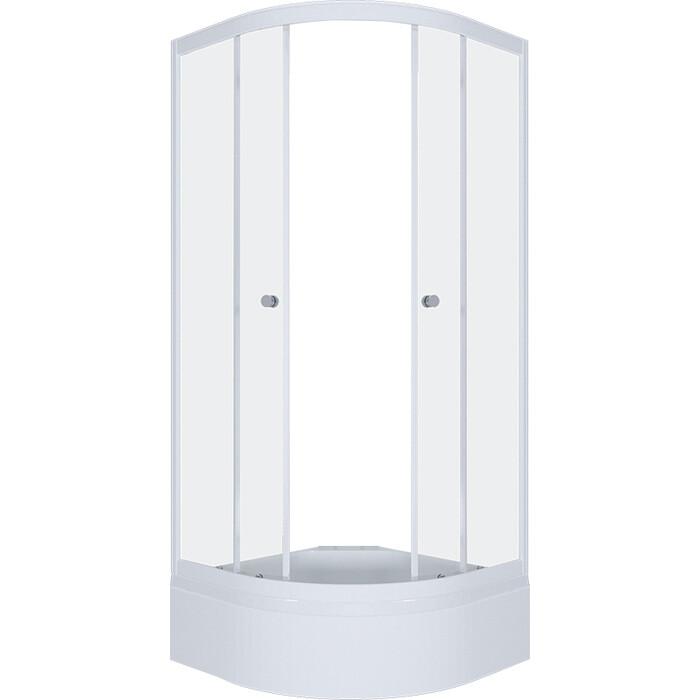 Душевой уголок Triton Рио 90х90 профиль белый, стекла Аква лён (Щ0000021293)
