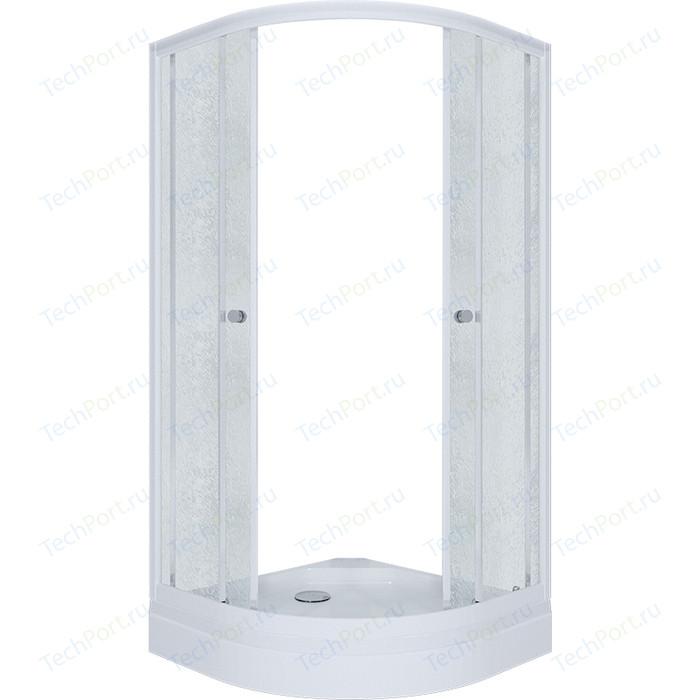 Душевой уголок Triton Риф А 90x90 профиль белый, стекла Грейс (Щ0000025415) triton орион 2 90x90 лен графит