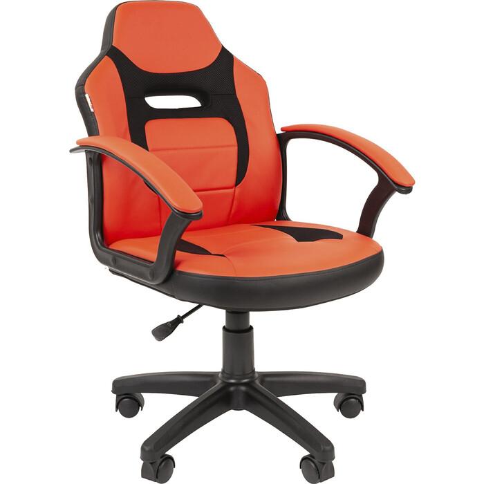 Кресло Chairman Kids 110 экопремиум черный/красный платье oodji ultra цвет красный белый 14001071 13 46148 4512s размер xs 42 170