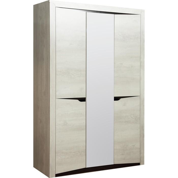 Шкаф для одежды 3-х дверный Олимп 33.02 Лючия бетон пайн белый / венге ДВПО зеркало