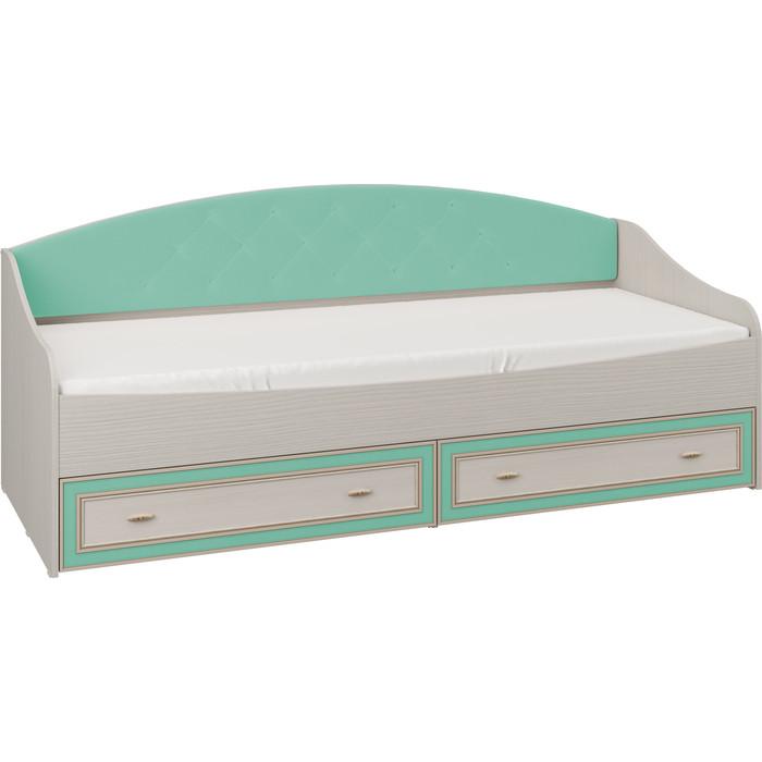 Кровать одинарная Олимп Тони-4 вудлайн кремовый / Masa Decor аруша венге профиль кожа мята ДВПО белый ткань микровелюр минт
