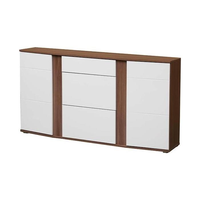 Комод Олимп 56 (набор мебели Донна) ясень шимо темный / ПВХ белый глянец снег ДВПО