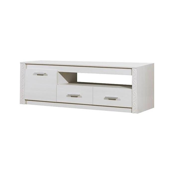 Тумба Олимп 06.113 (набор мебели Рапсодия) вудлайн кремовый / ДВПО белый ПВХ сандал