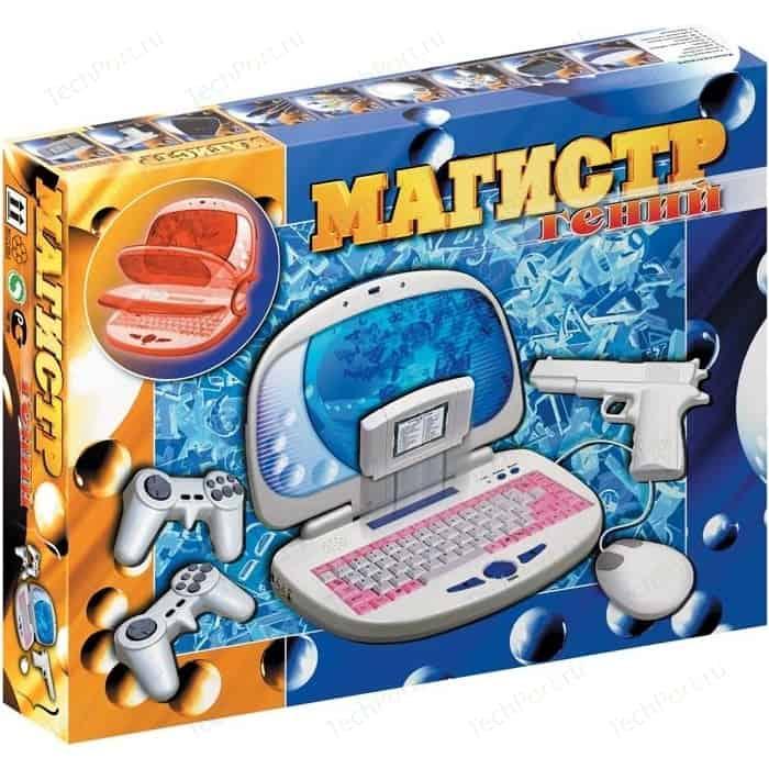 Игровая приставка Магистр Обучающий Гений + световой пистолет, джойстики, картридж, мышь, коврик. 8bit