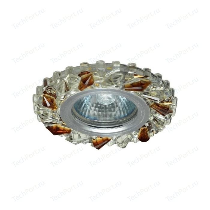Светильник MR16 встраиваемый ONLYLIGHT CP-7820 AL,CL+AMB AL,CLEAR+AMBER, LED 3Вт, ПОЛИКРИСТАЛЛ GU5.3, d 95mm,