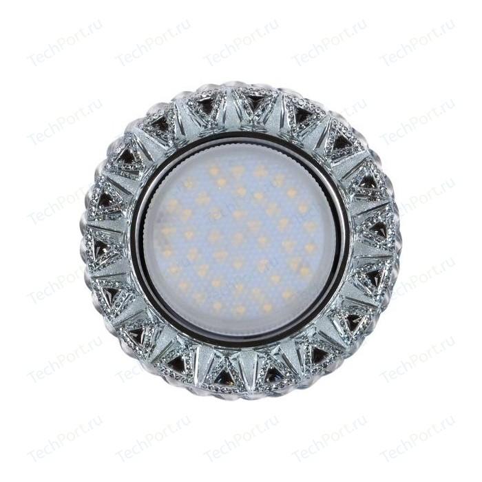 Фото - Светильник Imex IL.0028.1318 GX53+LED 4W 4000K, встраиваемый ПОЛИКРИСТАЛЛ CH/CLEAR+BK лампочка uniel led gx53 7w 4000k 4000k gx53 fr plb02wh ul 00006495