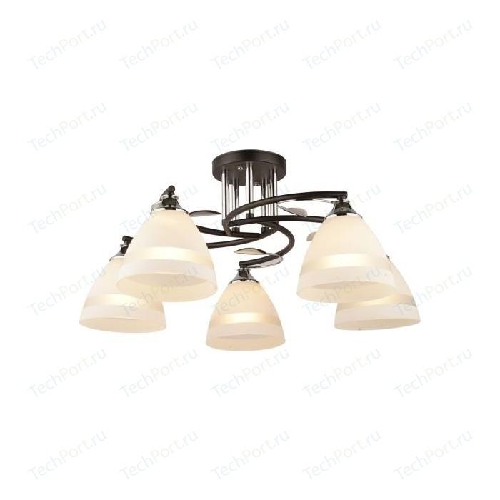 Люстра потолочная Imex MD.2867-5-S BK+CH 5*60Вт Е27