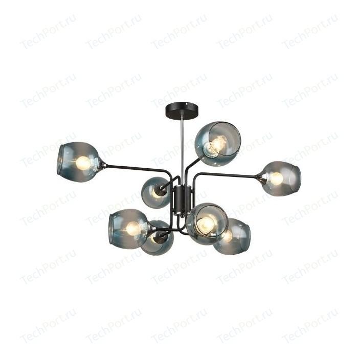 Люстра потолочная Imex MD.3564-8-S BK+CH 8*60Вт E27