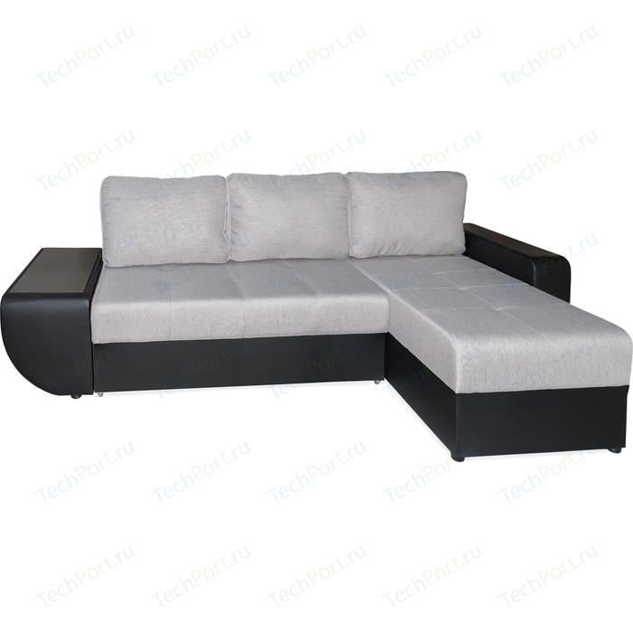 Угловой диван OrthoSleep Триумф (столик) polo smoke/aero black/polo smoke