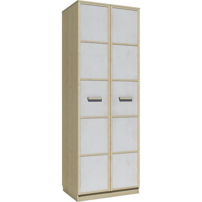 Шкаф для одежды Сильва НМ 14.07 фанк клен танзанский/белый