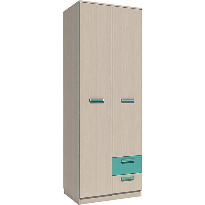 Шкаф для одежды Сильва НМ 14.07 рико дуб девонширский/аква с ящиками