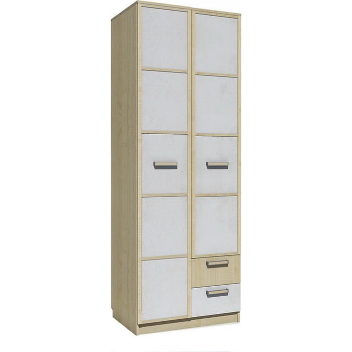 Шкаф для одежды Сильва НМ 14.07 фанк клен танзанский/белый с ящиками
