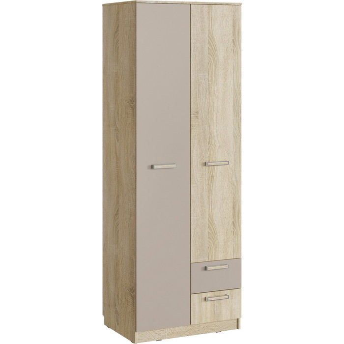 Шкаф для одежды Сильва НМ 14.07 акварель дуб сонома/капучино с ящиками