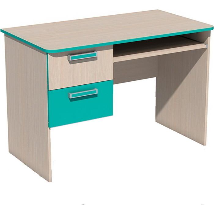Стол для компьютера Сильва НМ 009.19-05 М рико дуб девонширский/аква
