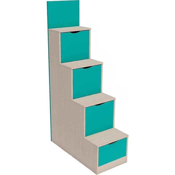 Фото - Лестница с ящиками Сильва НМ 011.64 рико дуб девонширский/ аква кровать 2 х ярусная сильва нм 037 43 рико дуб девонширский аква с диваном