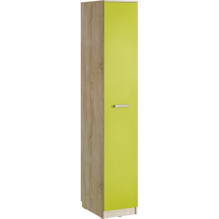 Шкаф для одежды Сильва НМ 013.01-03 акварель дуб сонома/лайм