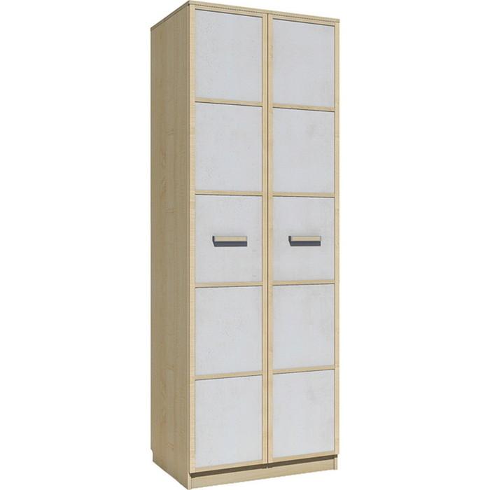 Шкаф для одежды Сильва НМ 013.02-03 фанк клен танзанский/белый